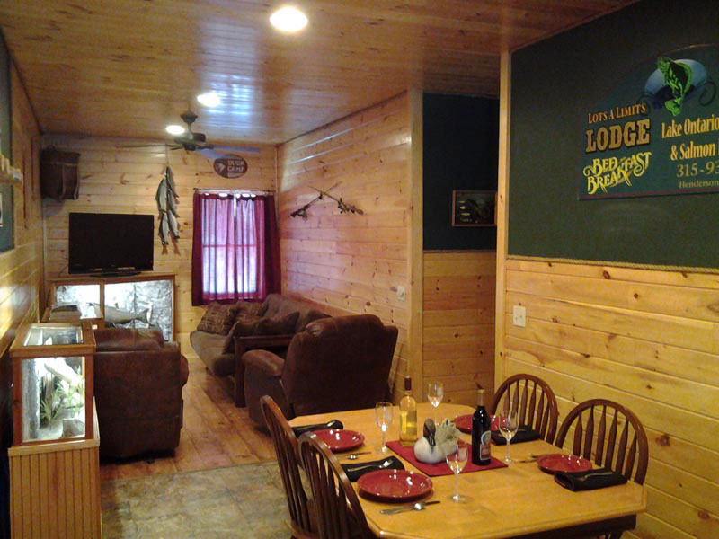 Interior of Fishing Lodge in Salmon River NY